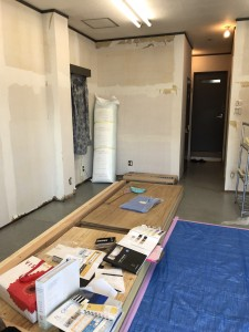 ピラティススタジオの改装始まりました。